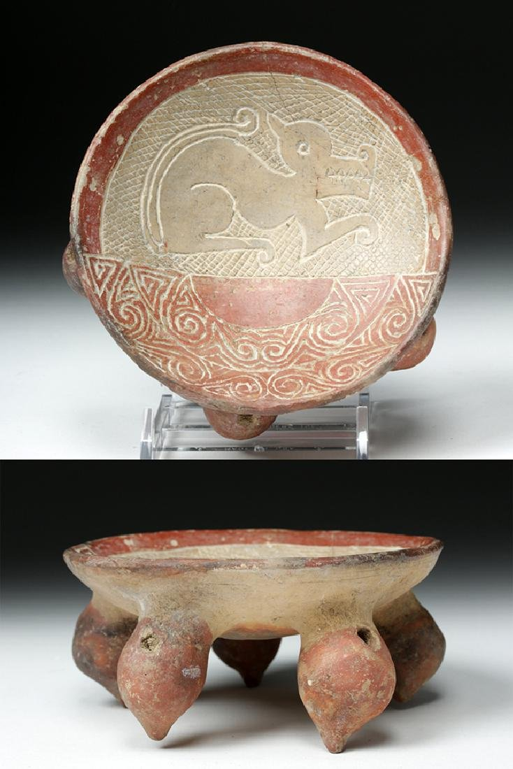 La Tolita / Chorrera Incised Pottery Footed Dish