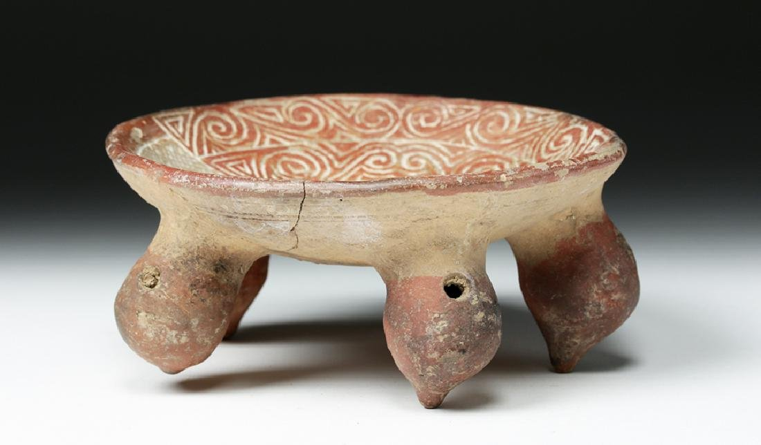 La Tolita / Chorrera Incised Pottery Footed Dish - 3