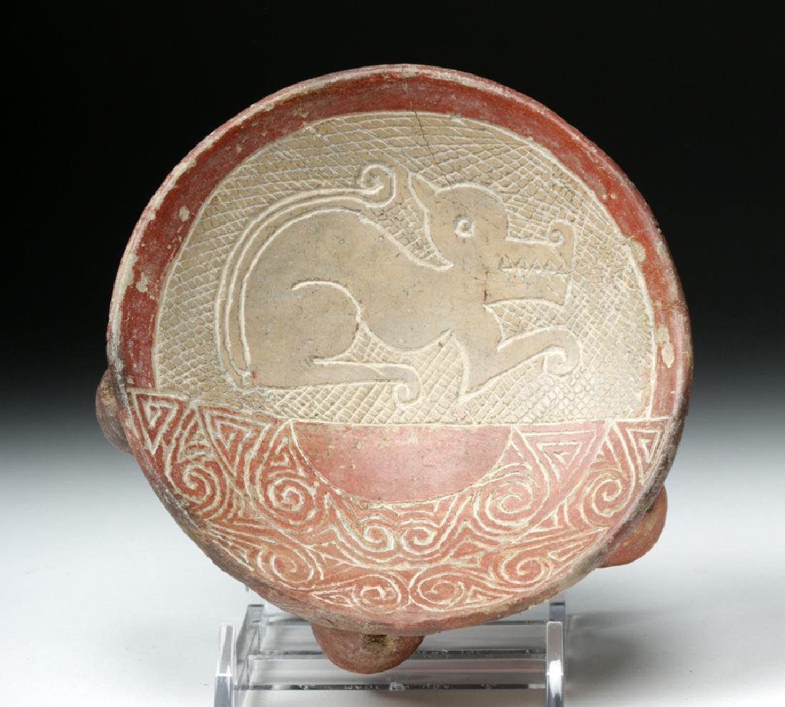 La Tolita / Chorrera Incised Pottery Footed Dish - 5