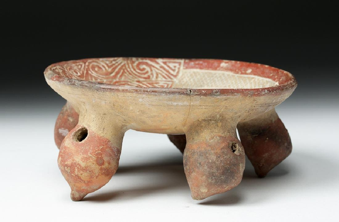 La Tolita / Chorrera Incised Pottery Footed Dish - 6
