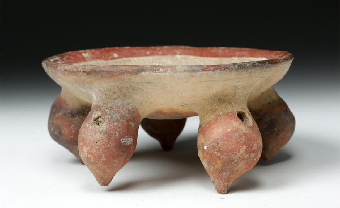 La Tolita / Chorrera Incised Pottery Footed Dish - 7