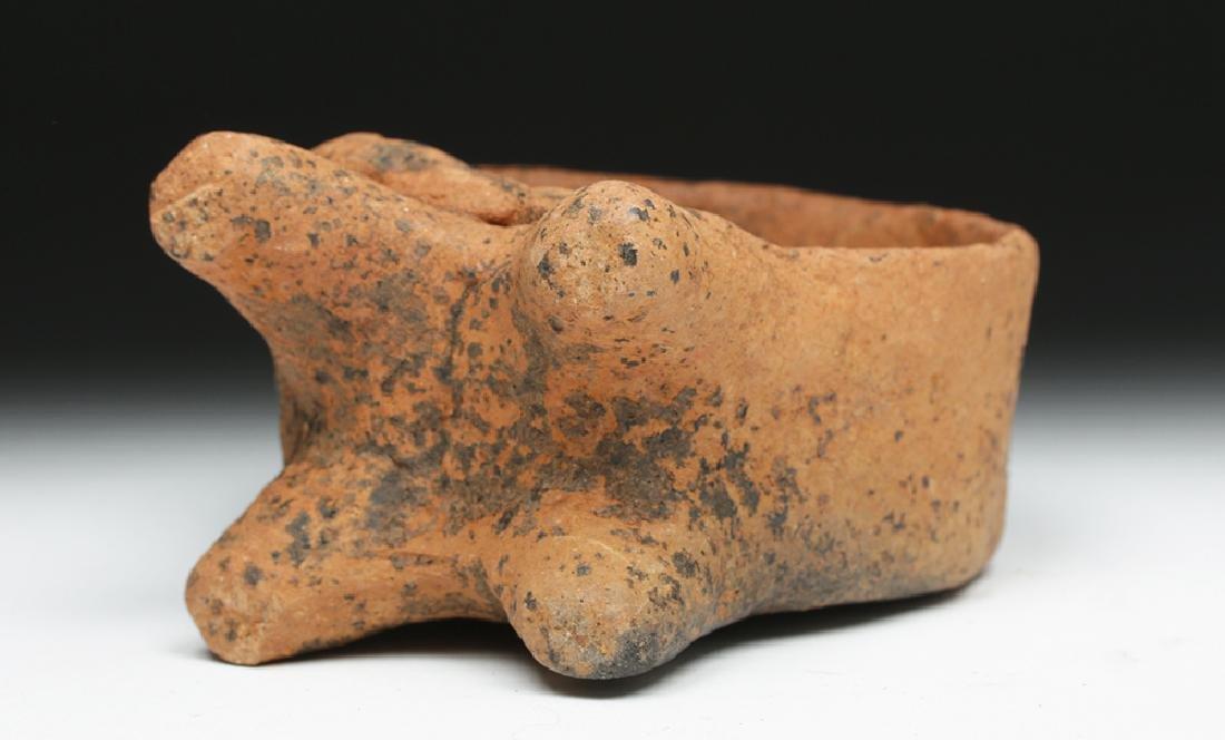 Colima Ceramic Figure Enthroned in Drum - 7