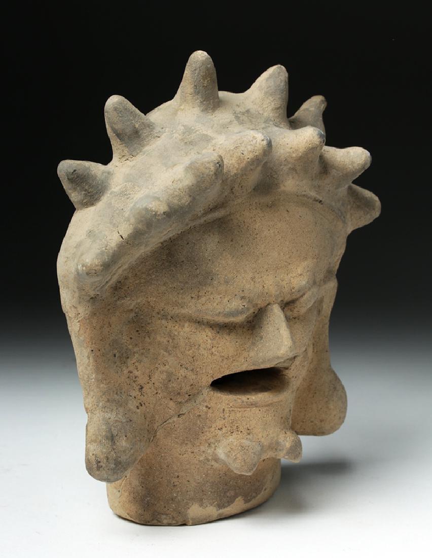 Rare Bahia Pottery Head of an Old Man - 5