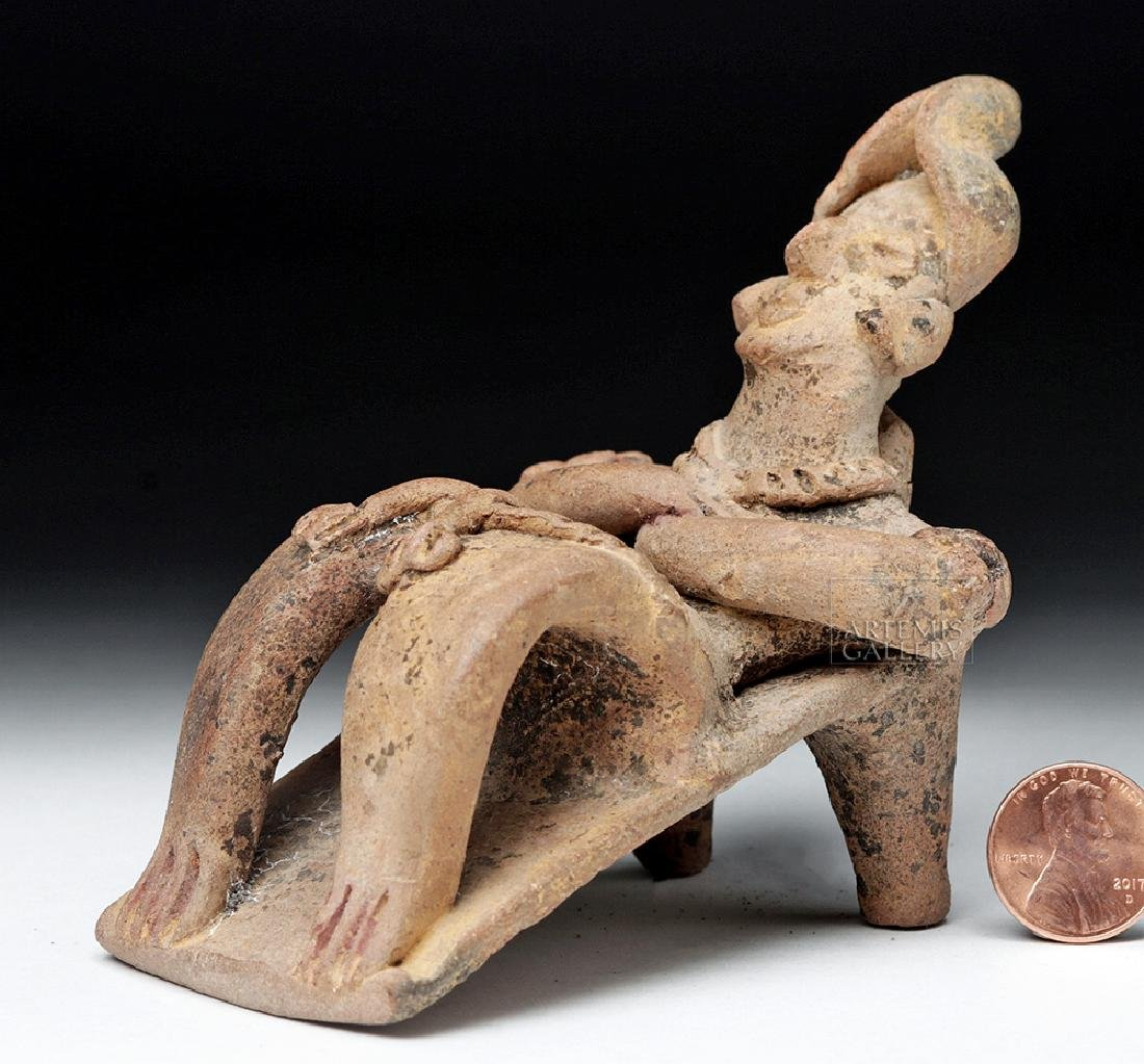Rare Colima Pottery Flat Reclining Figure - 2