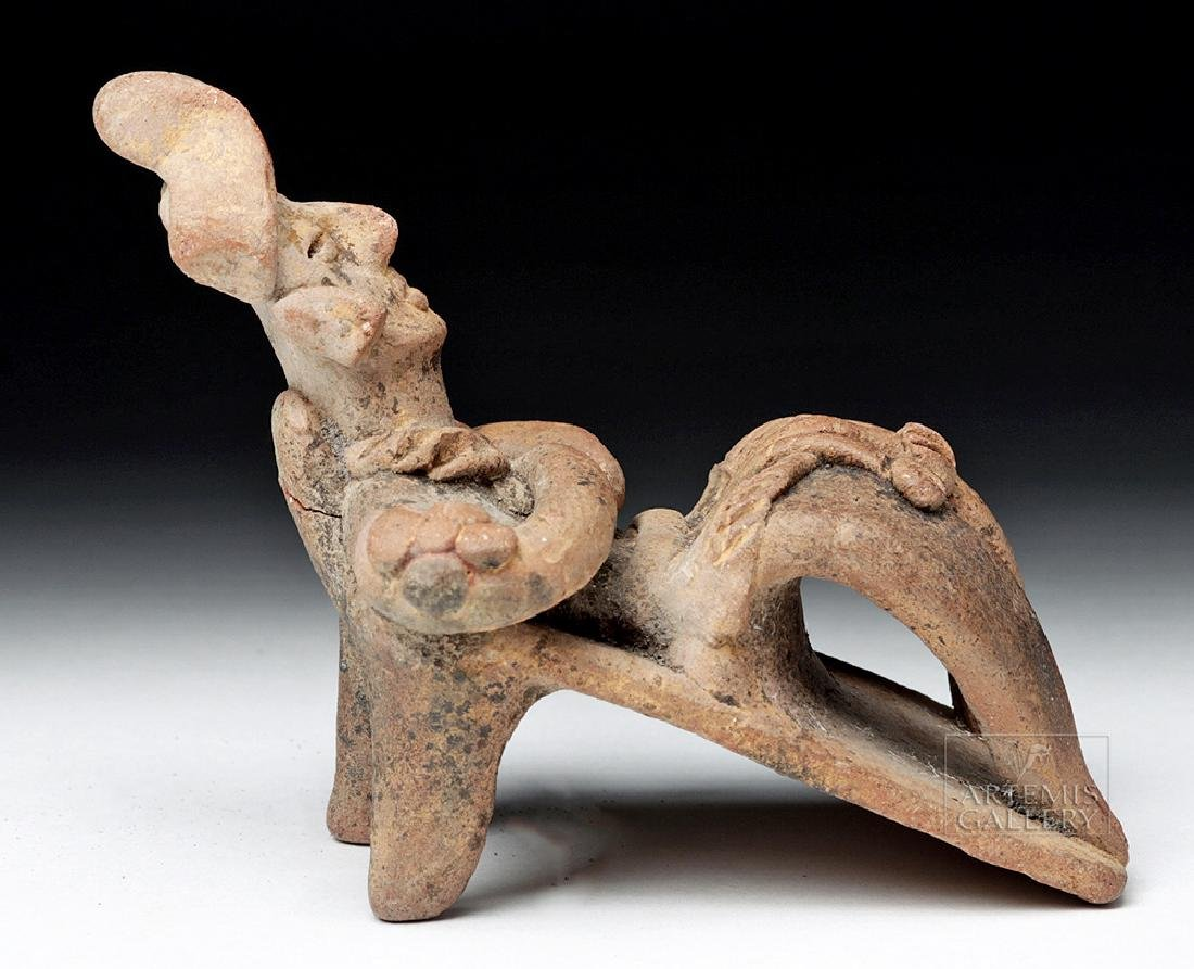 Rare Colima Pottery Flat Reclining Figure - 3