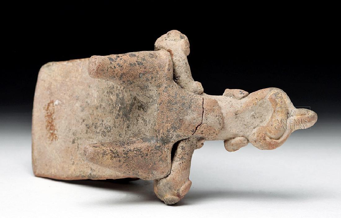 Rare Colima Pottery Flat Reclining Figure - 7