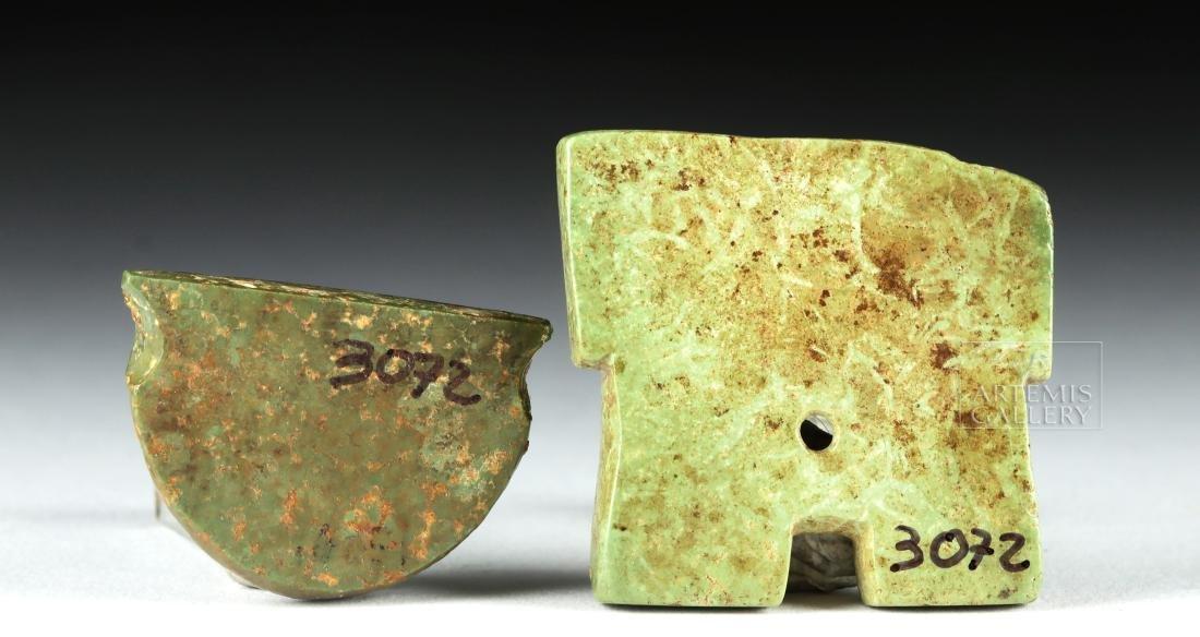 Pair of Mayan Greenstone Fragments - 3