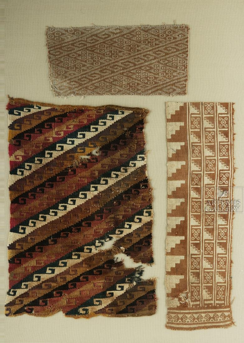 Three Framed Chimu Textile Fragments - 2