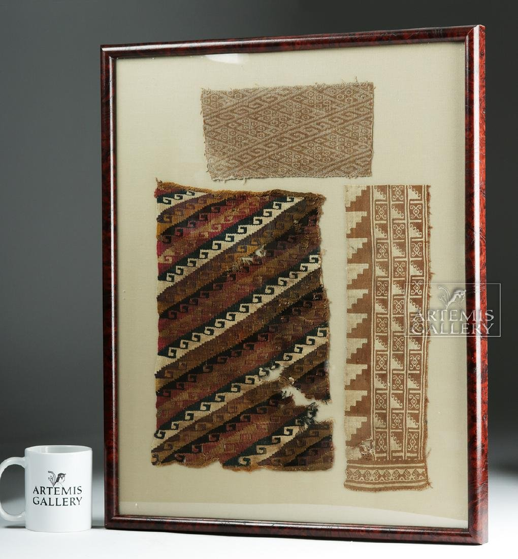 Three Framed Chimu Textile Fragments - 3