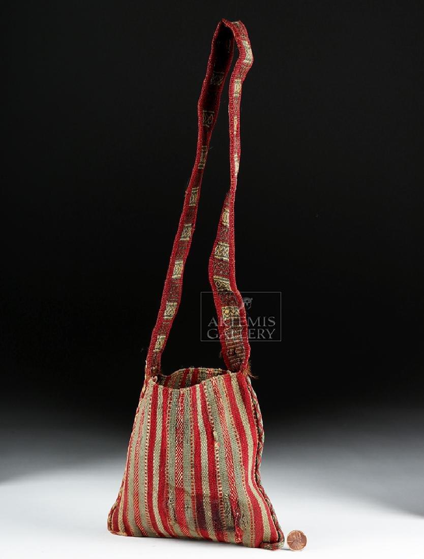 Colorful Inca Textile Coca Bag w/ Strap