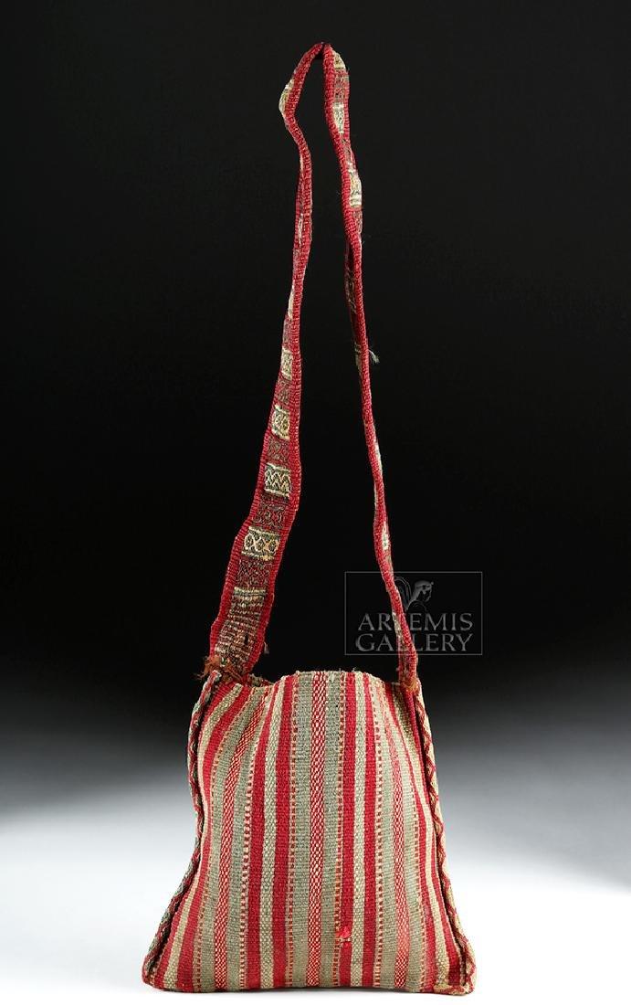Colorful Inca Textile Coca Bag w/ Strap - 2
