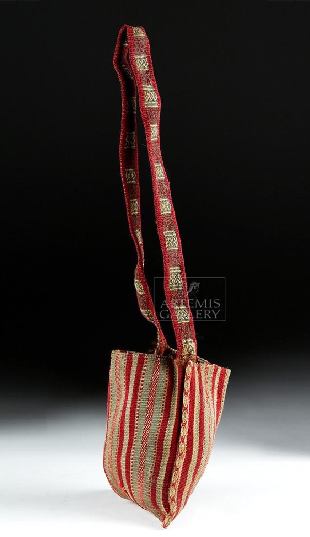 Colorful Inca Textile Coca Bag w/ Strap - 3