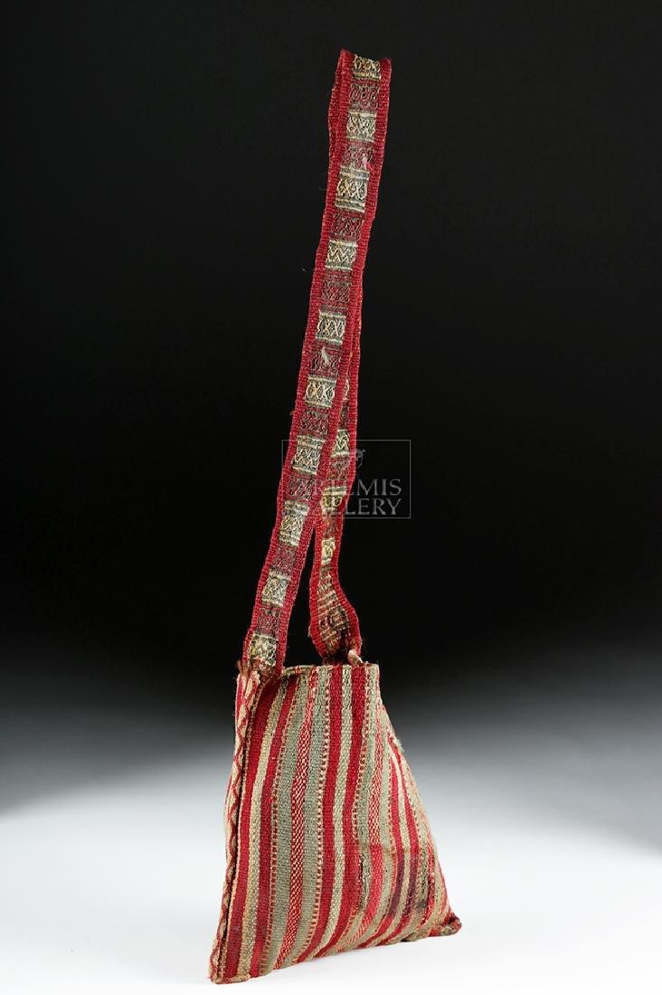 Colorful Inca Textile Coca Bag w/ Strap - 4