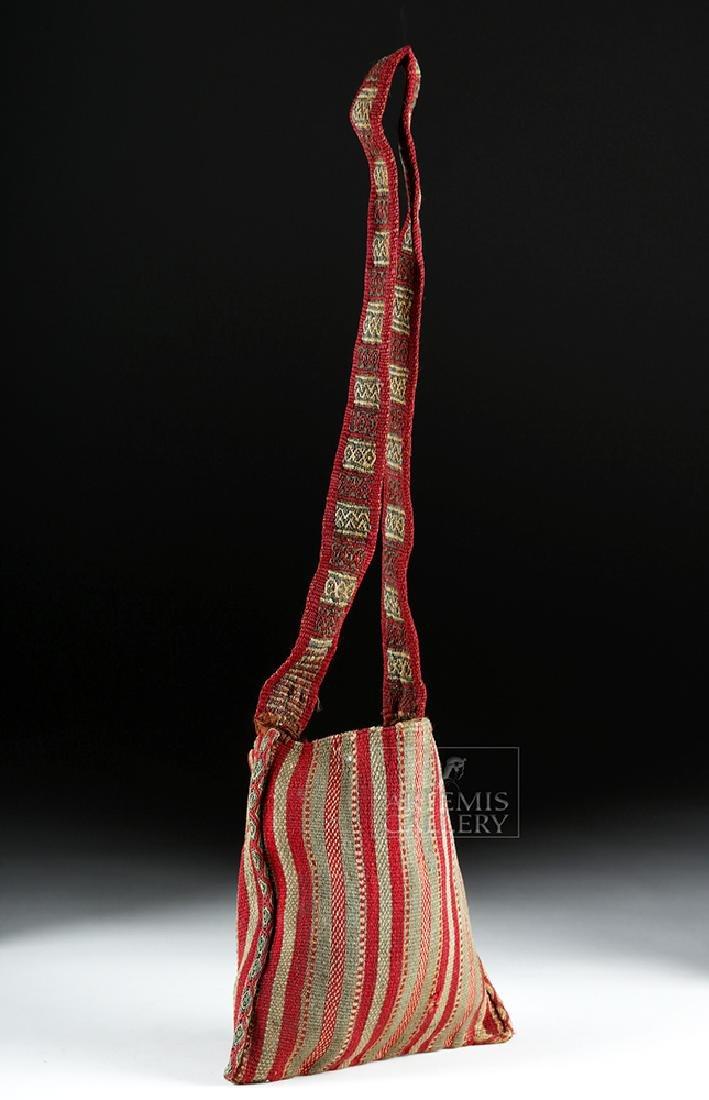 Colorful Inca Textile Coca Bag w/ Strap - 5