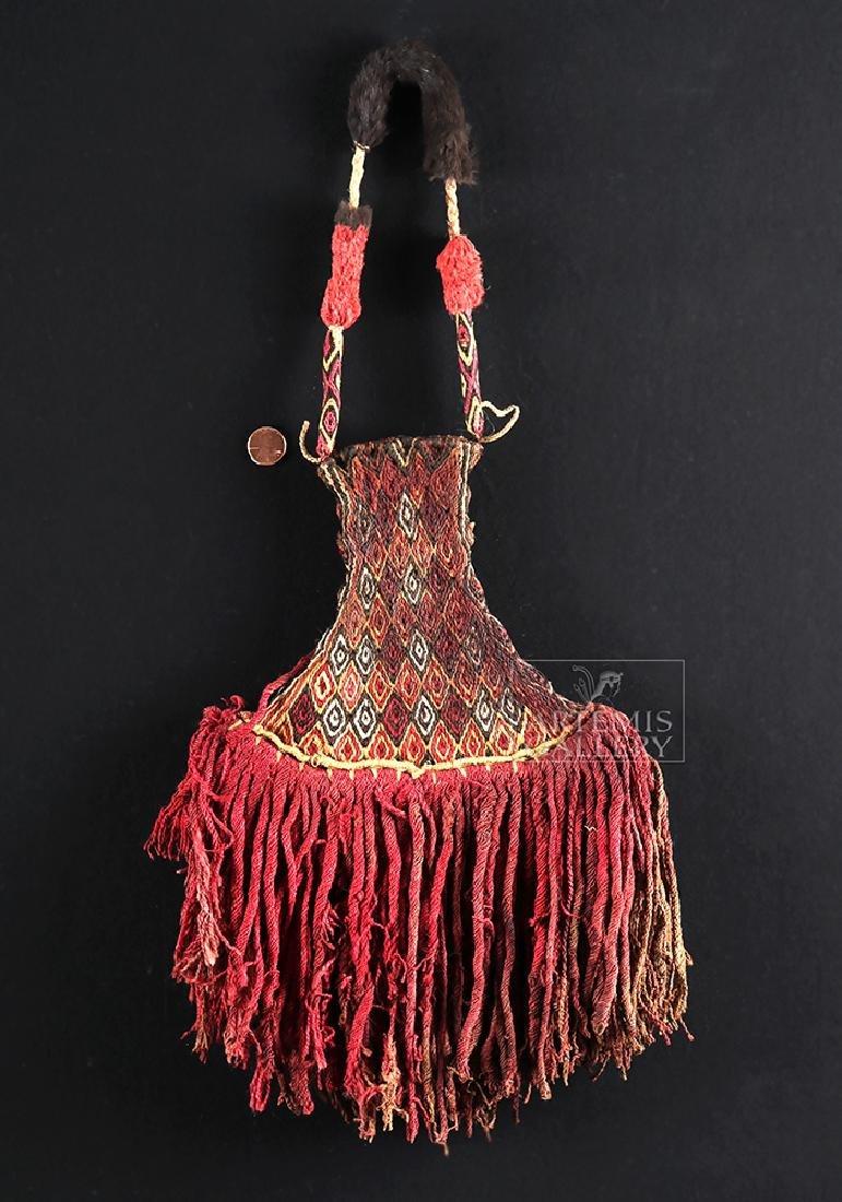 Inca Textile Ceremonial Fan - Colorful! - 3
