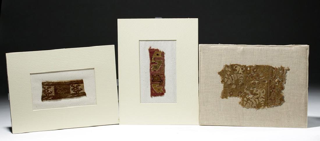 Three Pre-Columbian Chimu Textile Panels