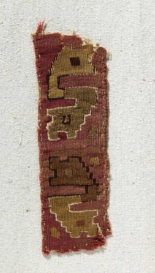 Three Pre-Columbian Chimu Textile Panels - 3