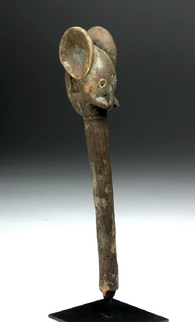 Early 20th C. West Africa Carved Wood Elephant Staff