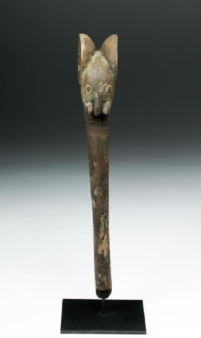 Early 20th C. West Africa Carved Wood Elephant Staff - 2