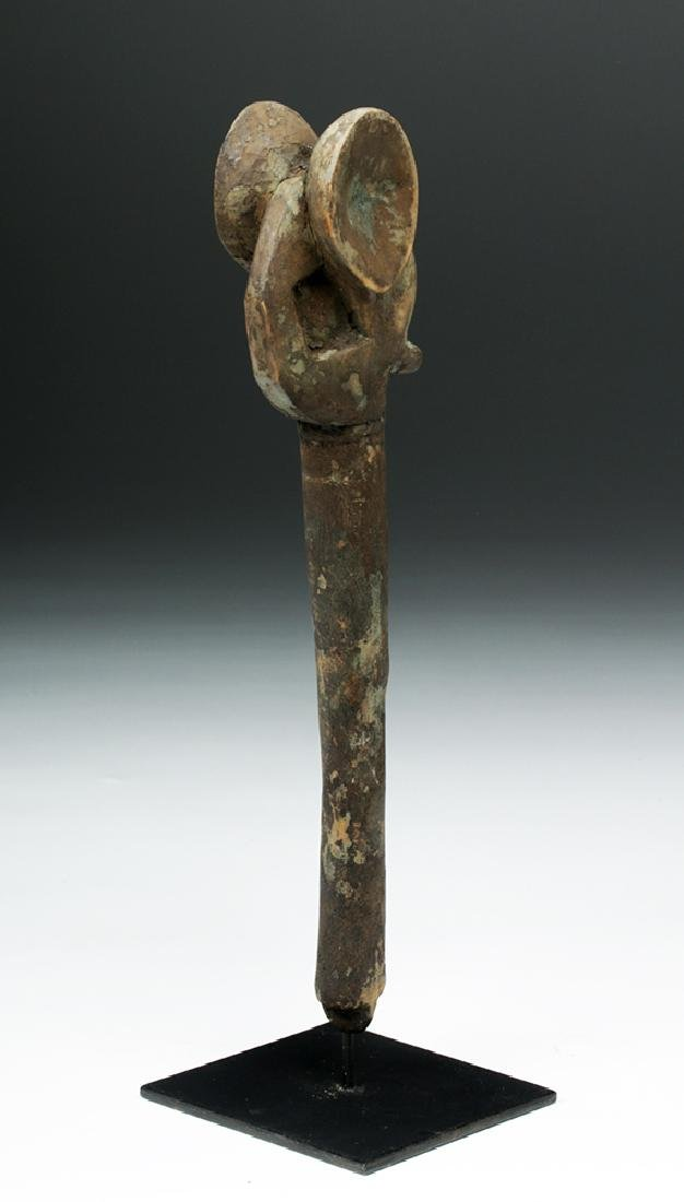 Early 20th C. West Africa Carved Wood Elephant Staff - 4