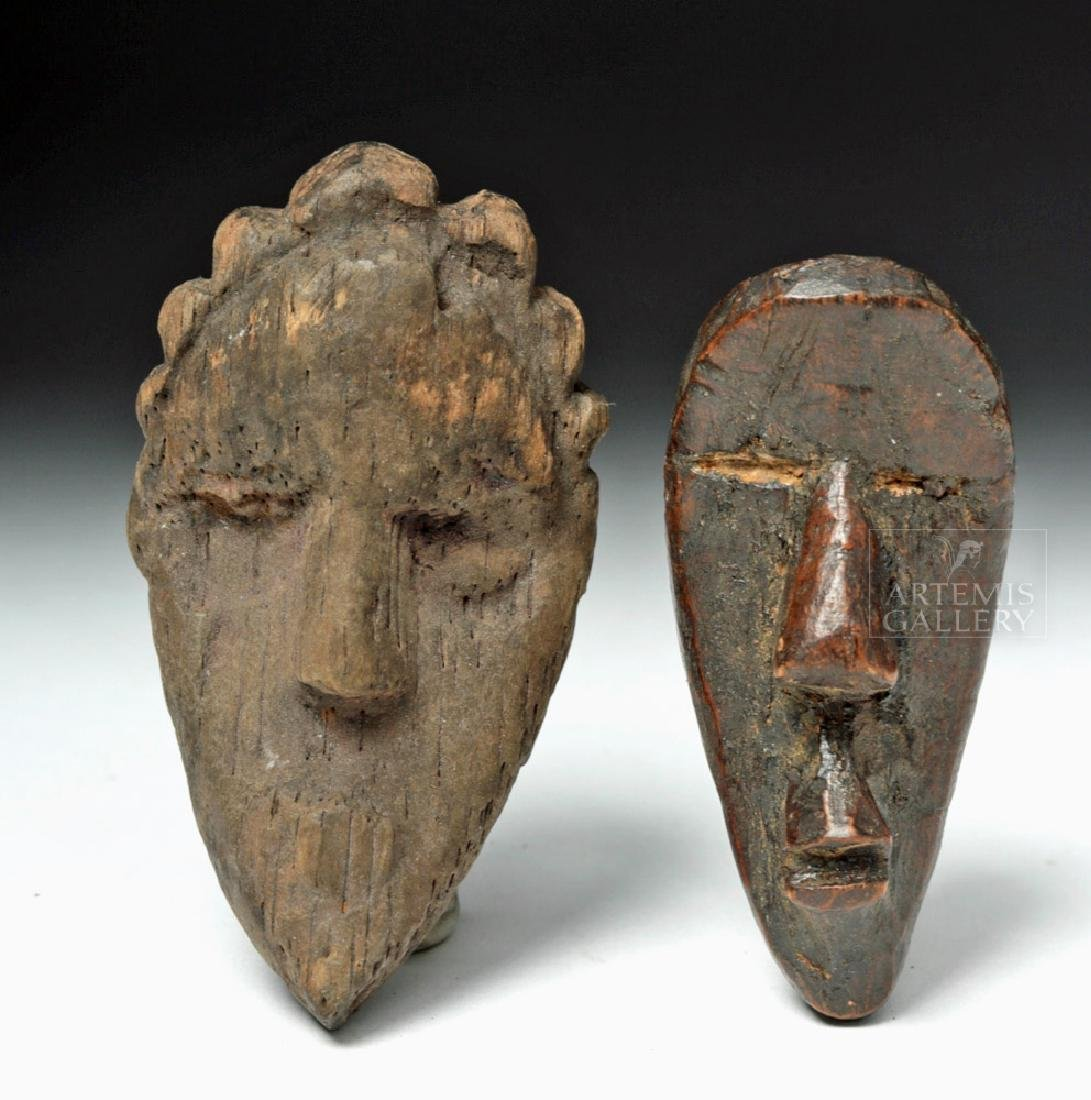 Pair of Early 20th C. African Dan Wood Passport Masks