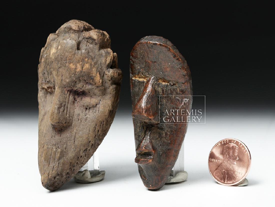 Pair of Early 20th C. African Dan Wood Passport Masks - 2