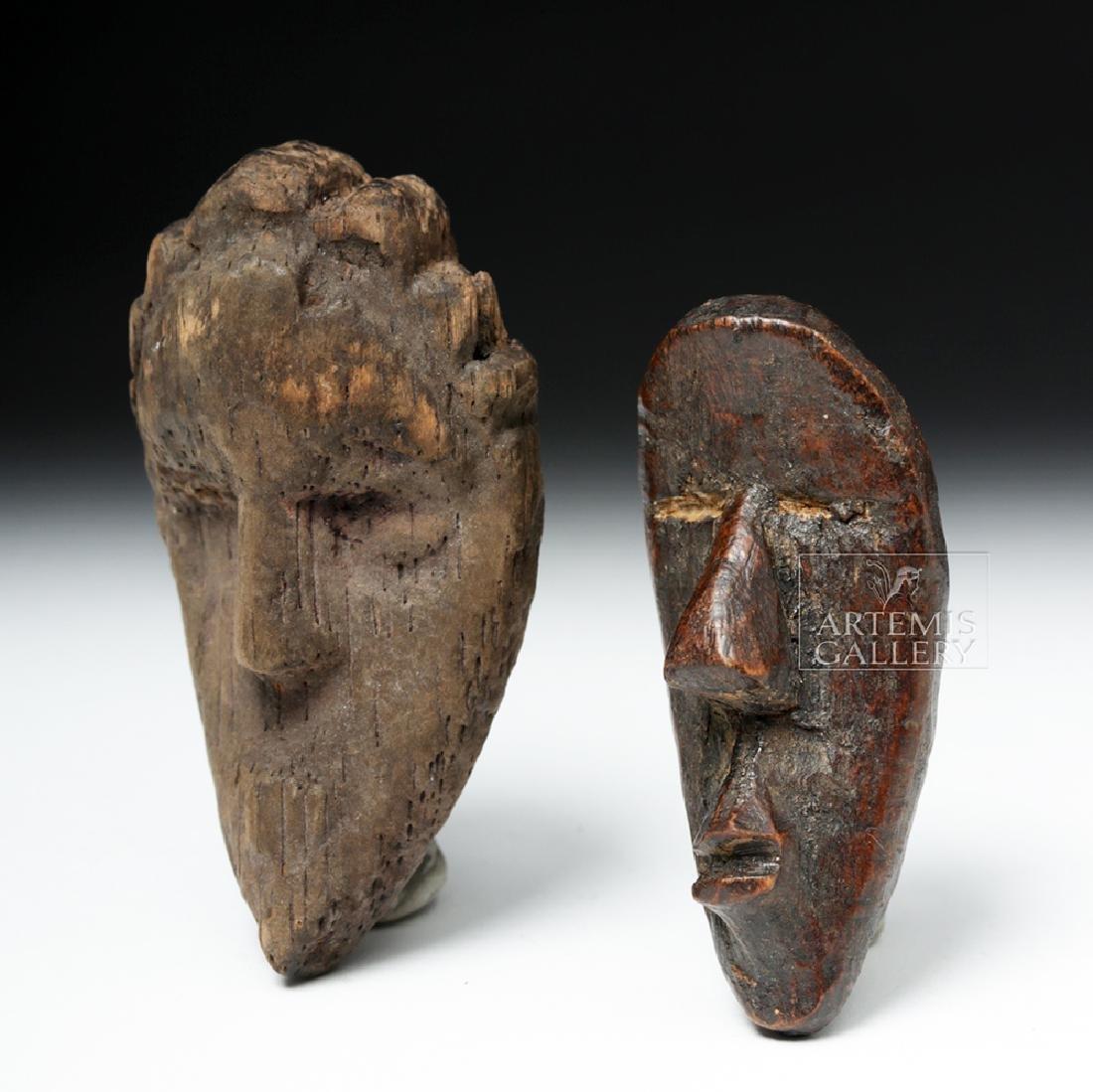 Pair of Early 20th C. African Dan Wood Passport Masks - 3