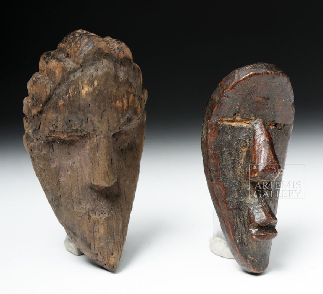 Pair of Early 20th C. African Dan Wood Passport Masks - 4