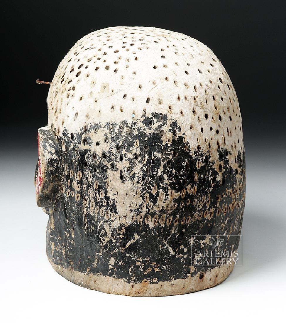 Early 20th C. African E. Nigerian Wood Helmet Mask - 3
