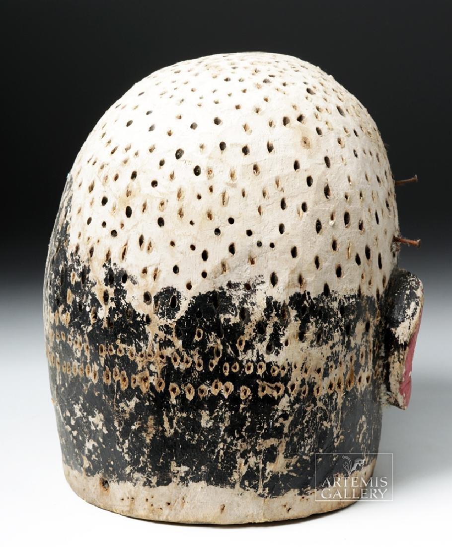Early 20th C. African E. Nigerian Wood Helmet Mask - 4