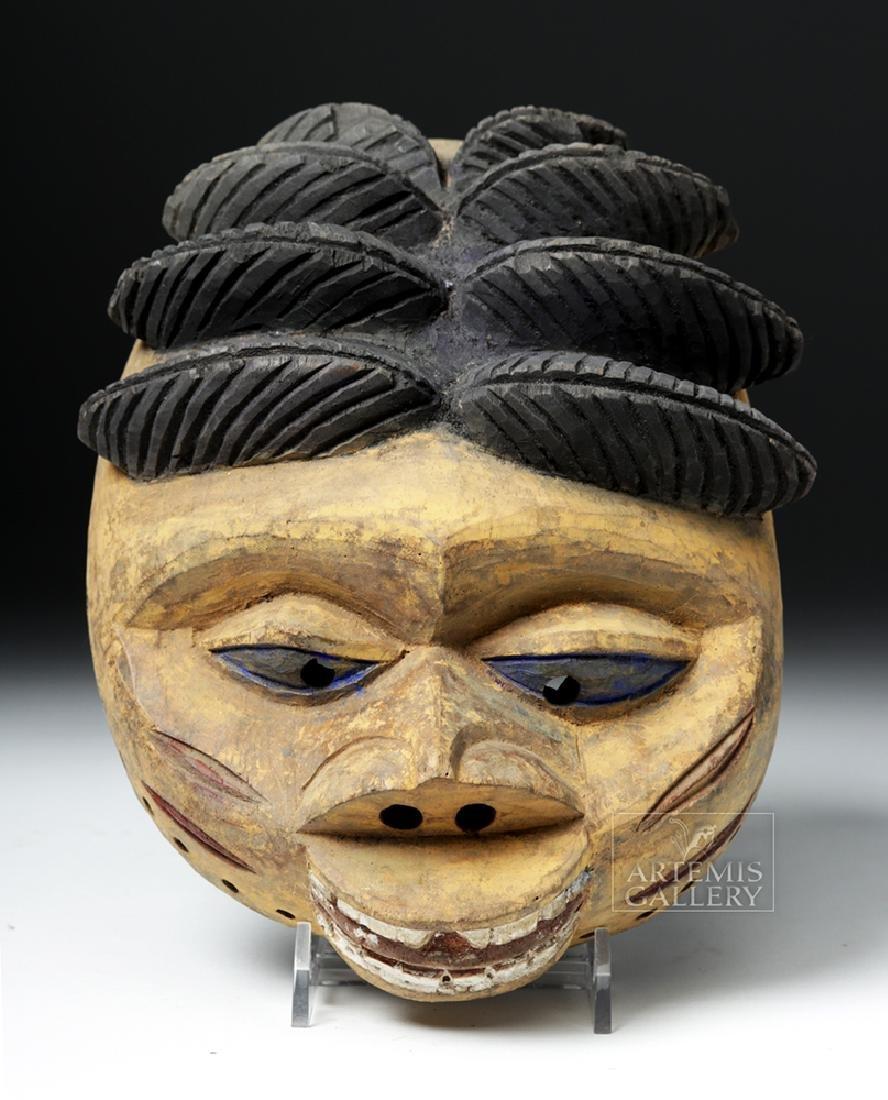 20th C. Nigerian Yoruba Painted Wood Gelede Mask - 2