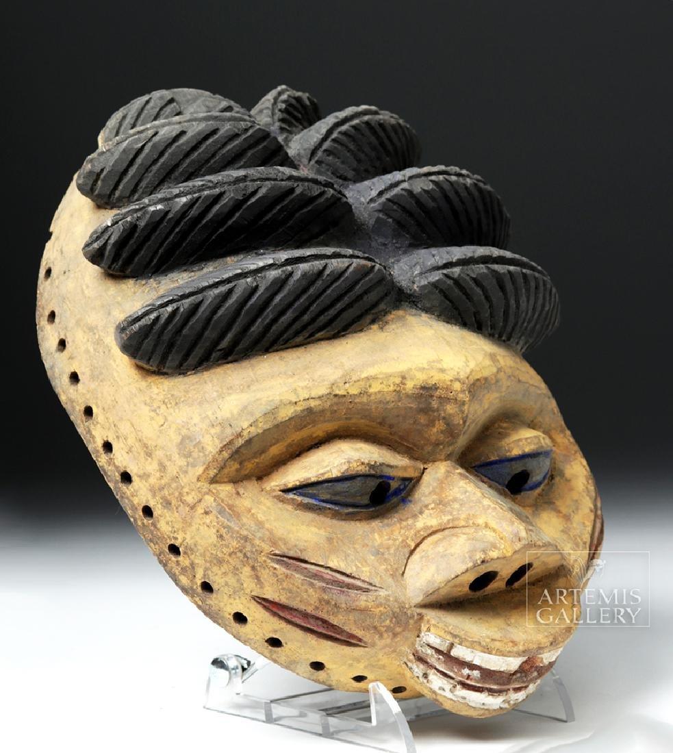 20th C. Nigerian Yoruba Painted Wood Gelede Mask - 3