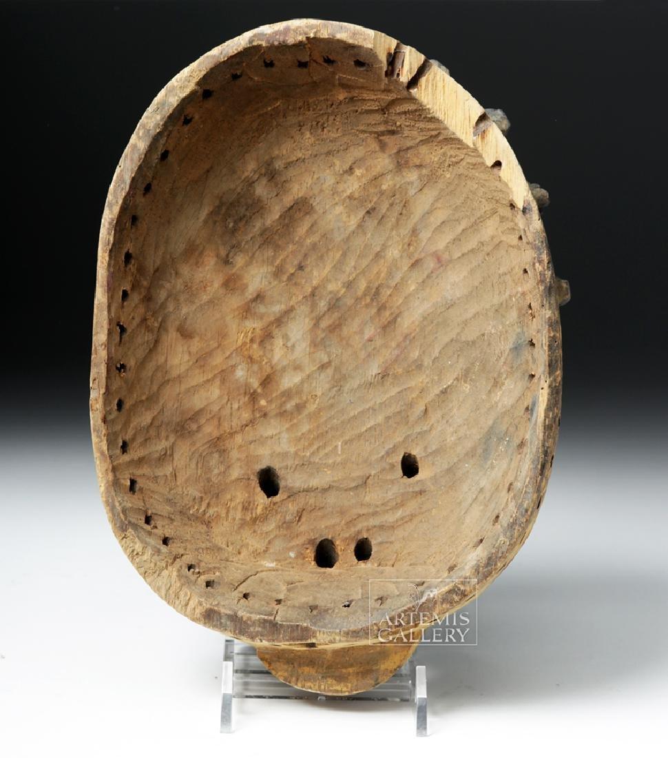 20th C. Nigerian Yoruba Painted Wood Gelede Mask - 4