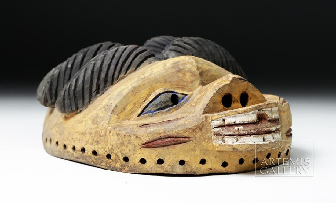 20th C. Nigerian Yoruba Painted Wood Gelede Mask - 5