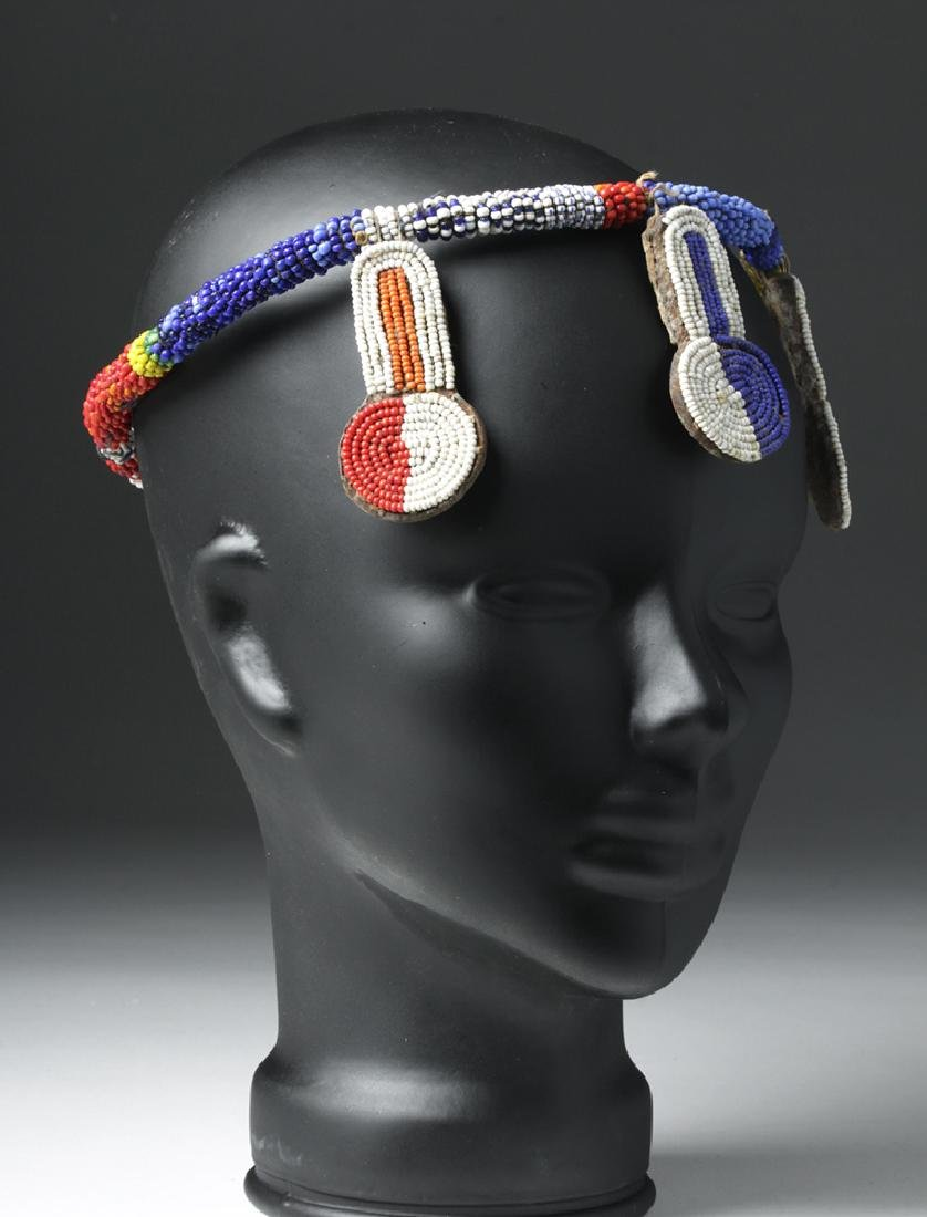 Mid 20th C. African Beaded Hair Decoration - 3