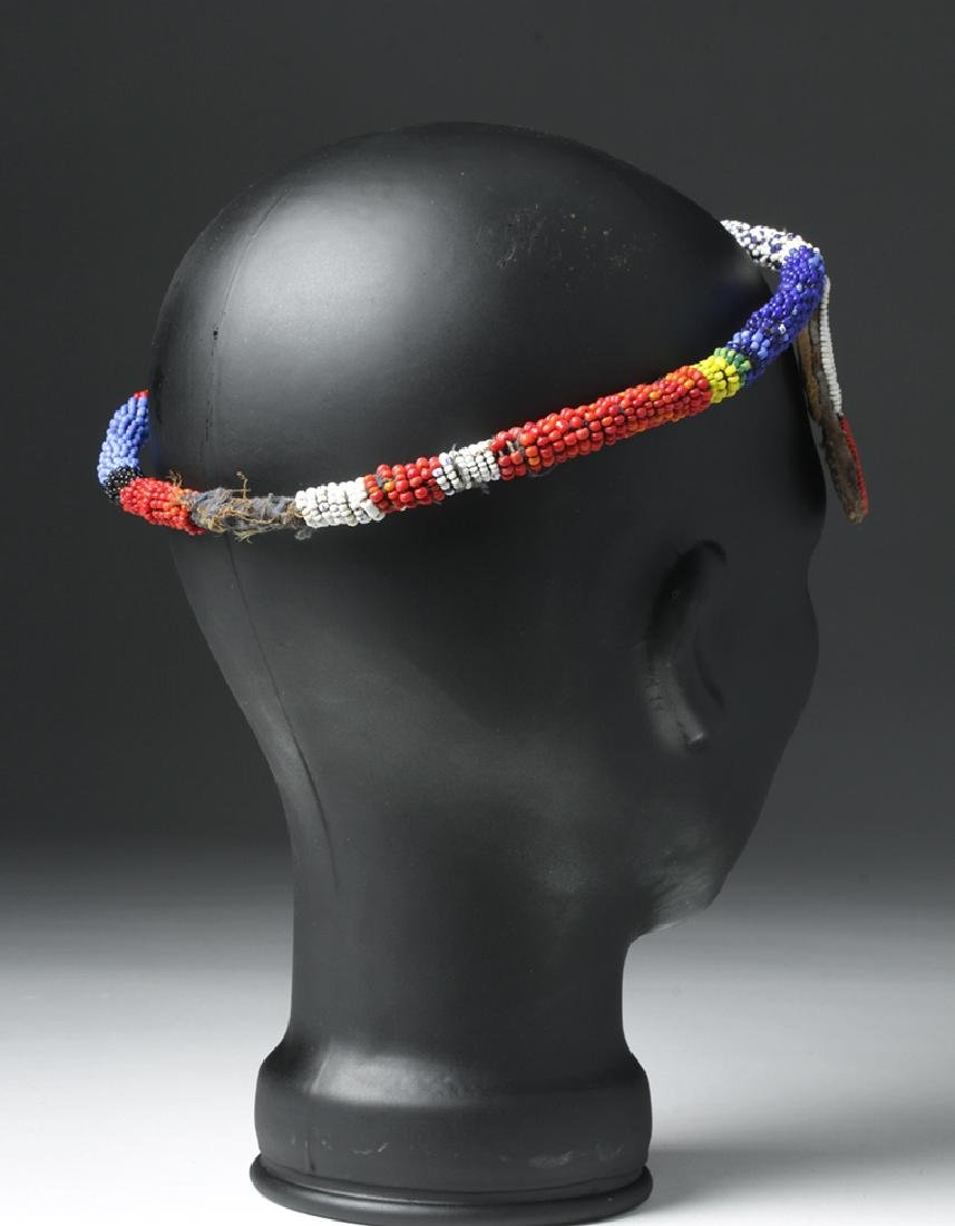 Mid 20th C. African Beaded Hair Decoration - 4