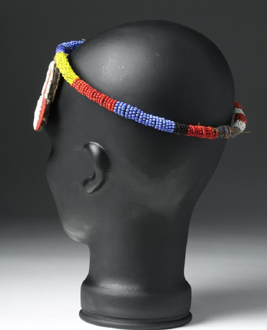 Mid 20th C. African Beaded Hair Decoration - 5