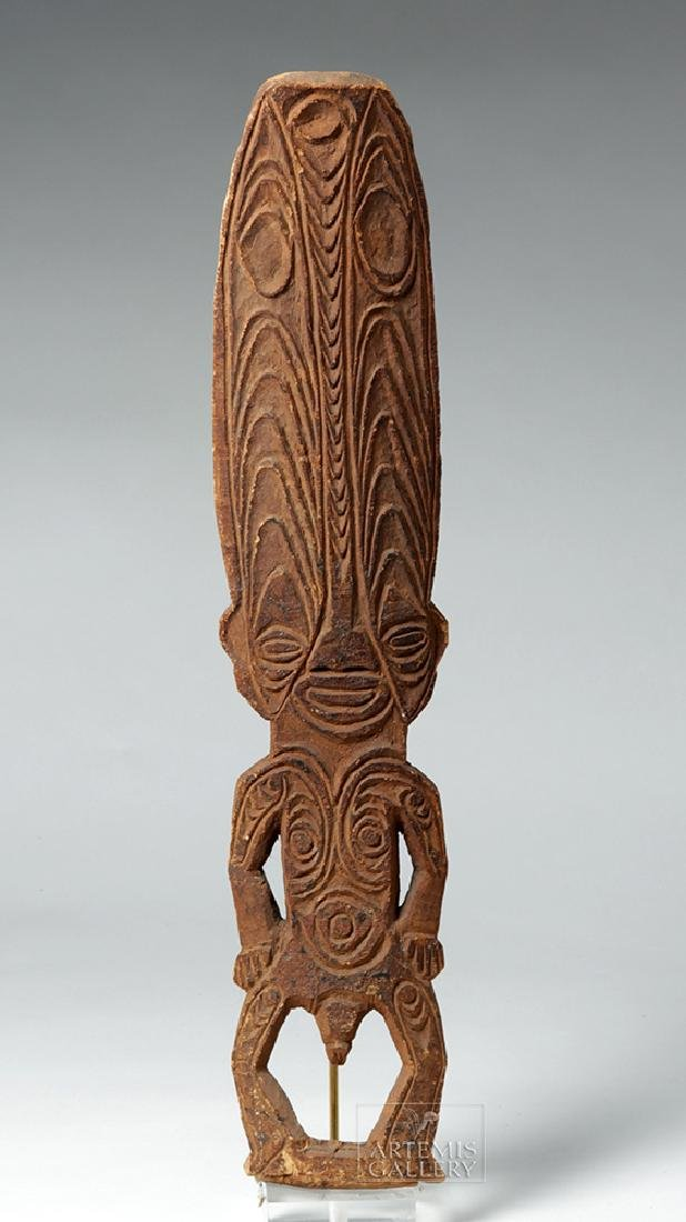 Early 20th C. Papua New Guinea Wooden Figure