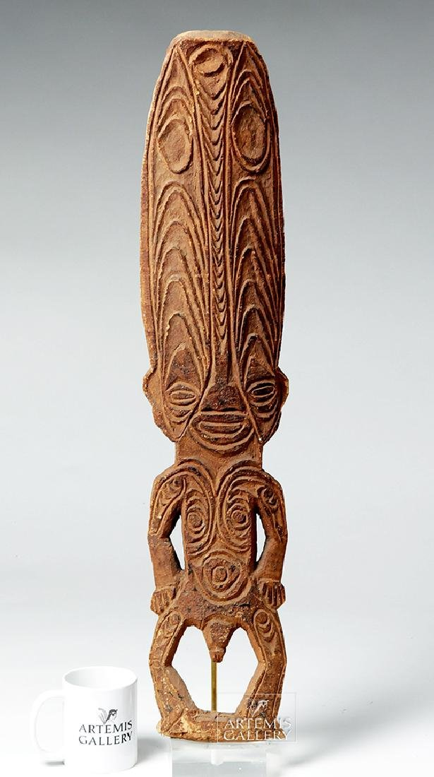 Early 20th C. Papua New Guinea Wooden Figure - 2