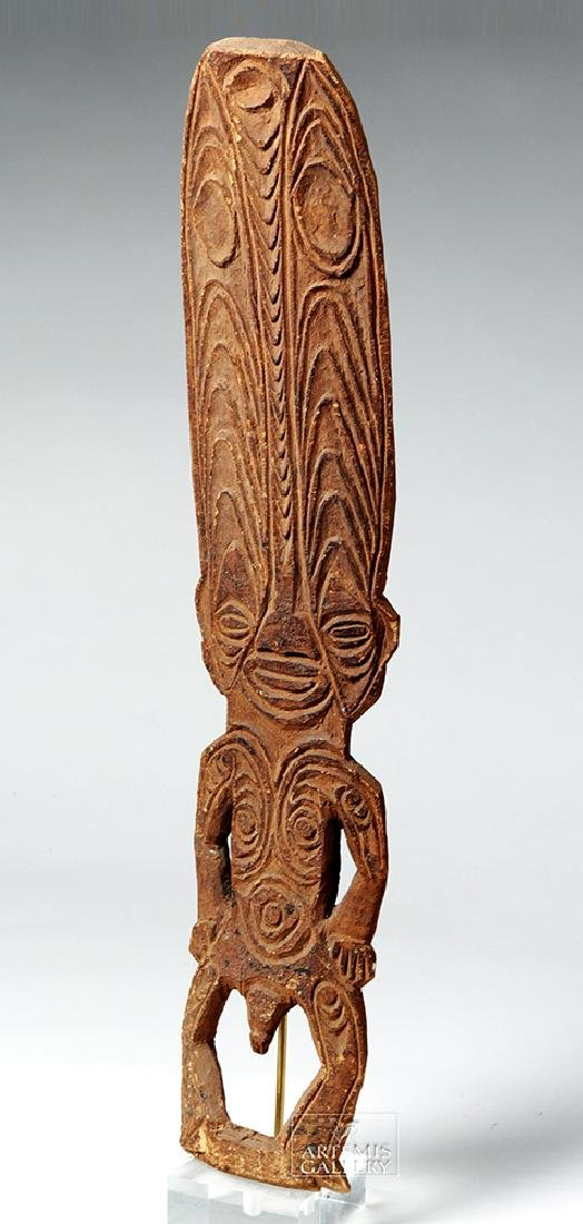 Early 20th C. Papua New Guinea Wooden Figure - 3