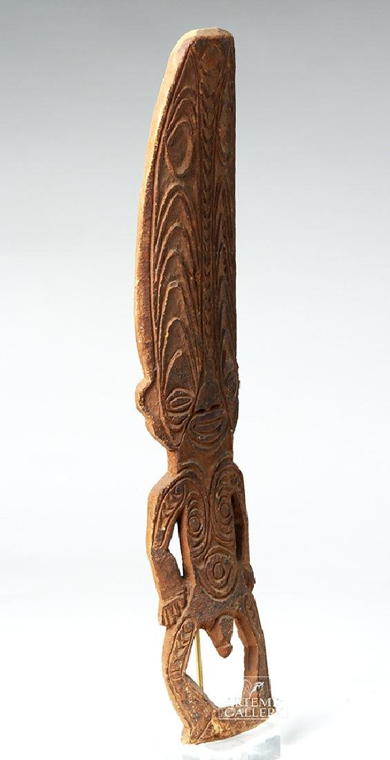 Early 20th C. Papua New Guinea Wooden Figure - 4
