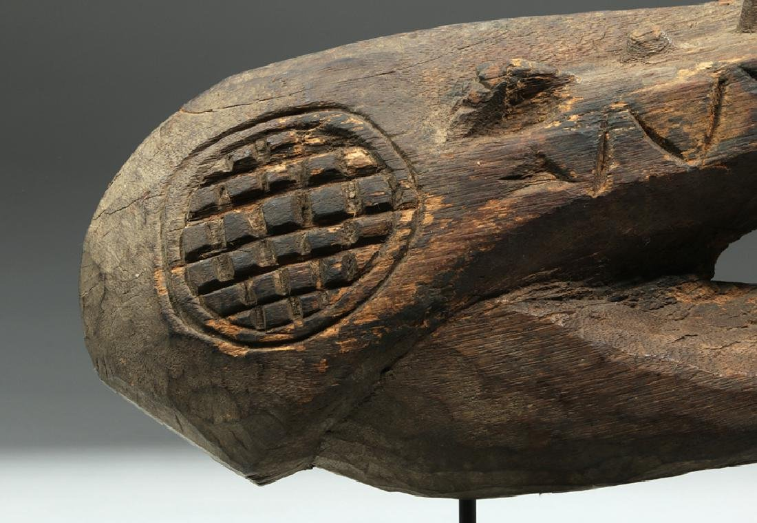 Early 20th C. Papua New Guinea Wood Carving - Crocodile - 2