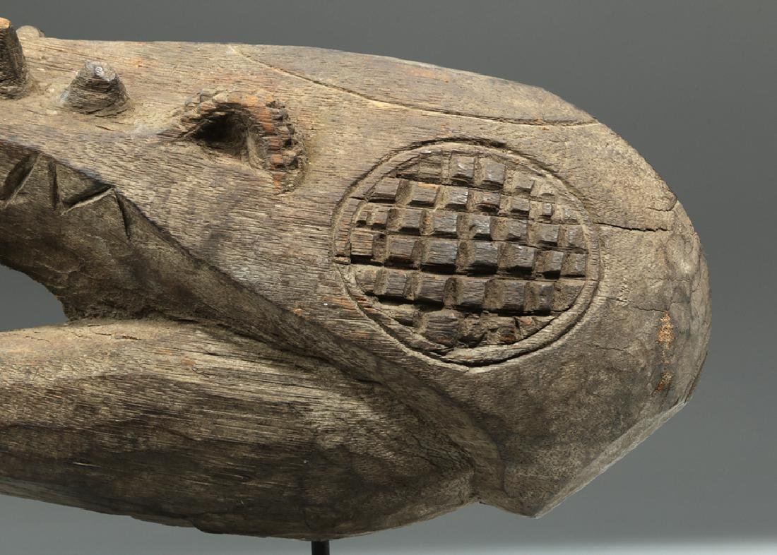 Early 20th C. Papua New Guinea Wood Carving - Crocodile - 6