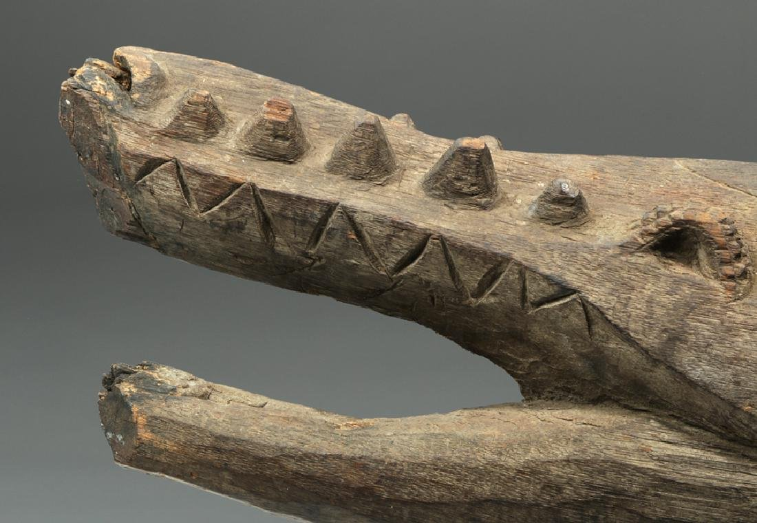 Early 20th C. Papua New Guinea Wood Carving - Crocodile - 7