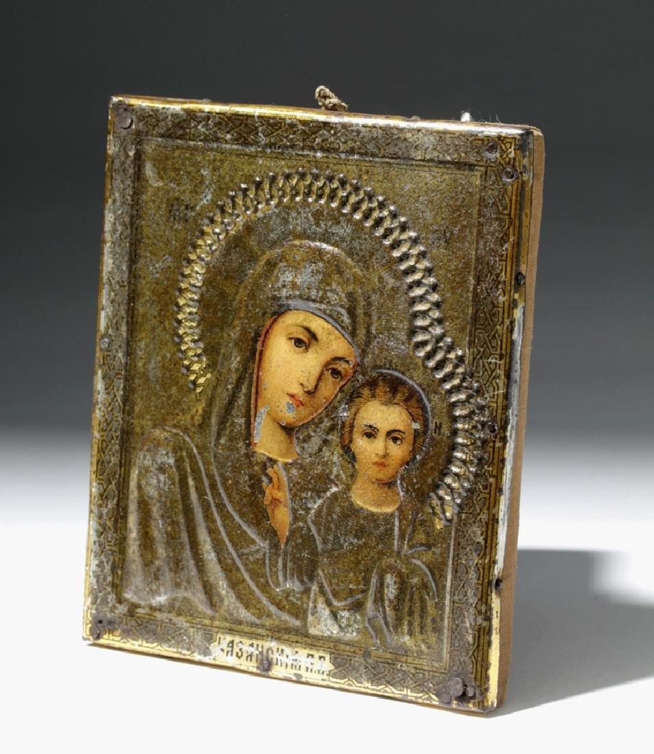 19th C. Russian Icon of Theotokos as Virgin Hodegetria - 4