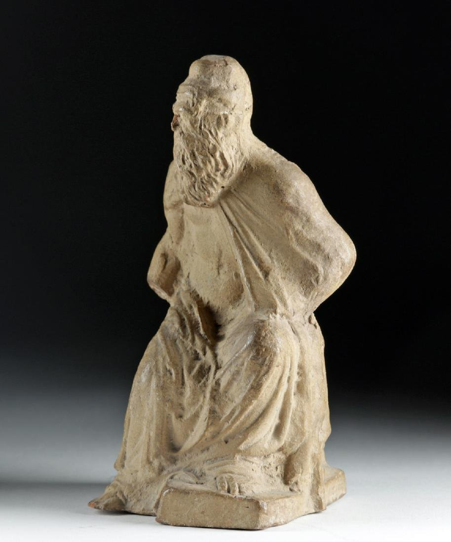 Late 18th C. European Terracotta Seated Philosopher - 2