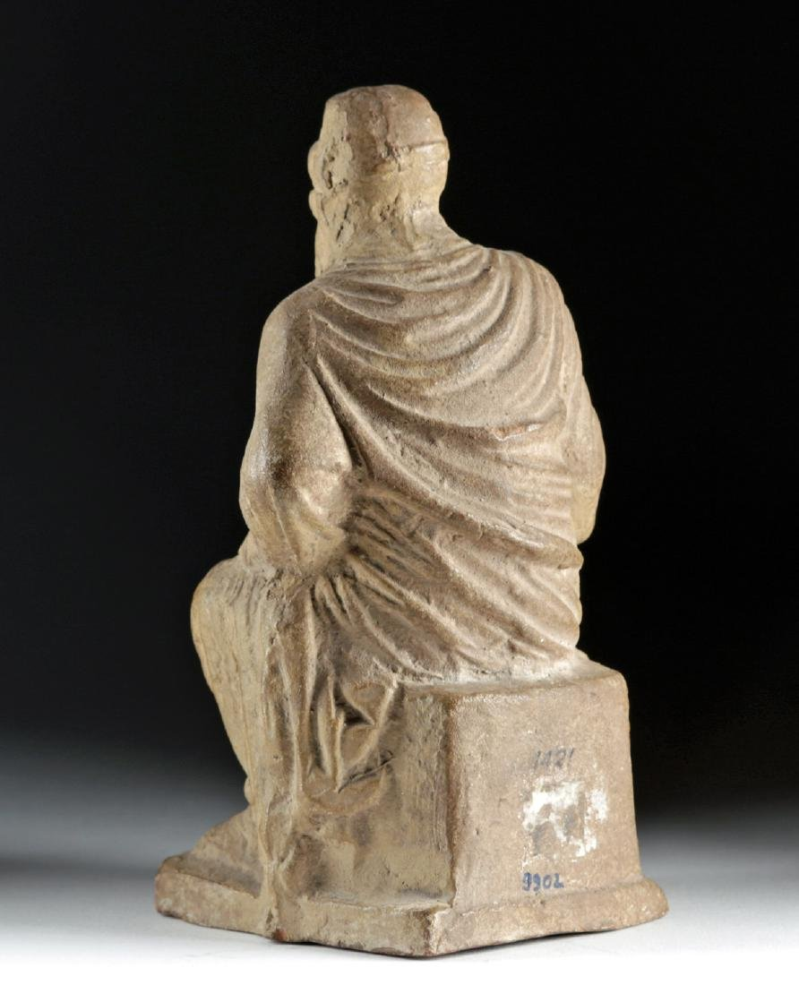 Late 18th C. European Terracotta Seated Philosopher - 5
