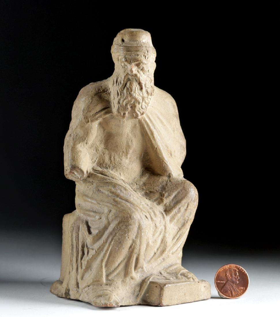 Late 18th C. European Terracotta Seated Philosopher - 6