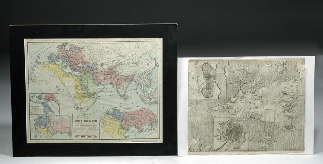 Three 19th C. Maps & Two 19th C. Prints - 2