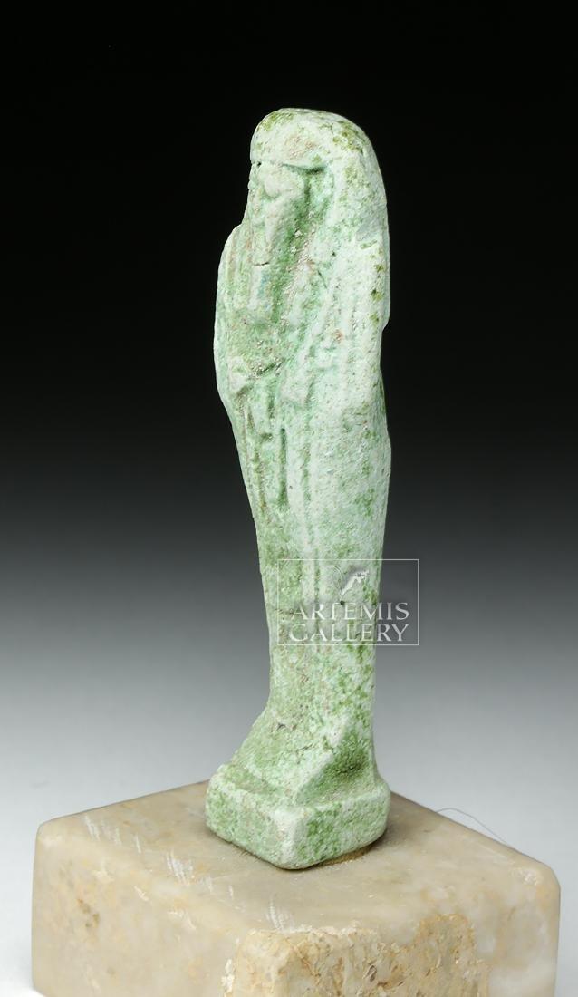 Egyptian Late Dynastic Period Green Faience Ushabti - 2